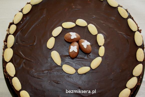 mazurek z czekoladą od góry