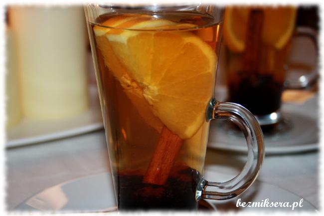 Czarna herbata z pomarańczą