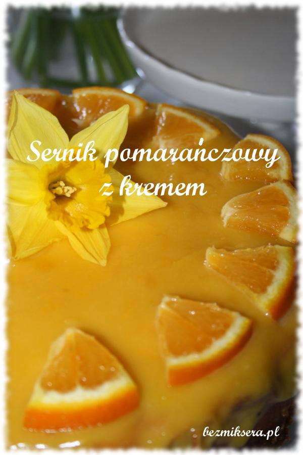 Sernik pomarańczowy z kremem