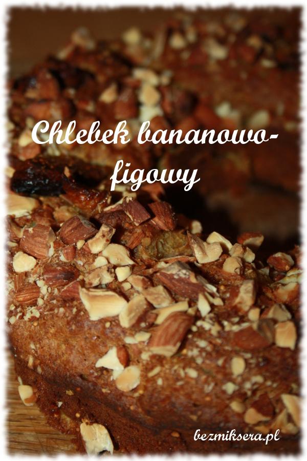 słodki chlebek bananowo-figowy