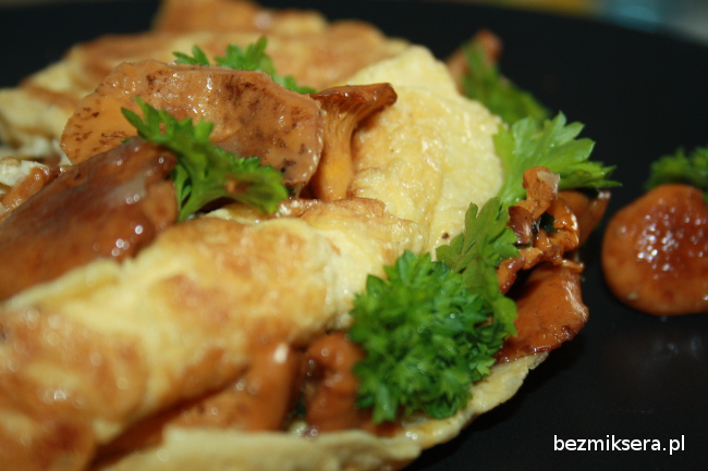 omlet nadziewany kurkami