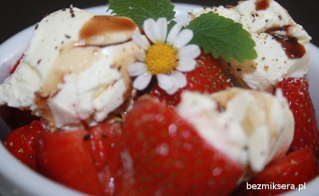 Przepis na truskawki z octem balsamicznym