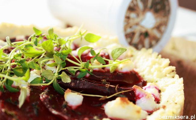 Przepis na tartę z burakami i kozim serem