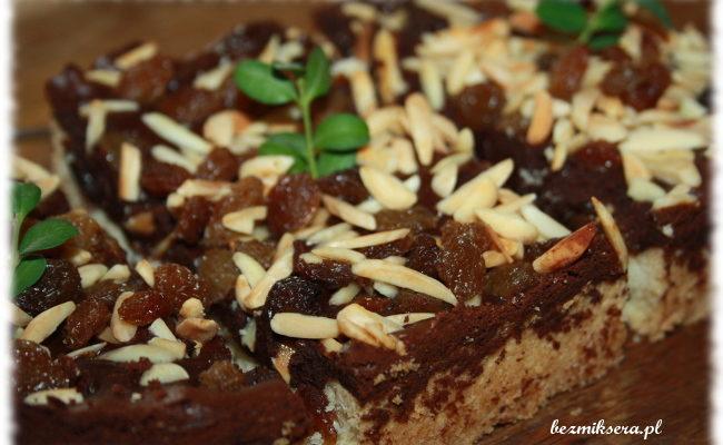 Przepis na mazurek czekoladowy z bakaliami