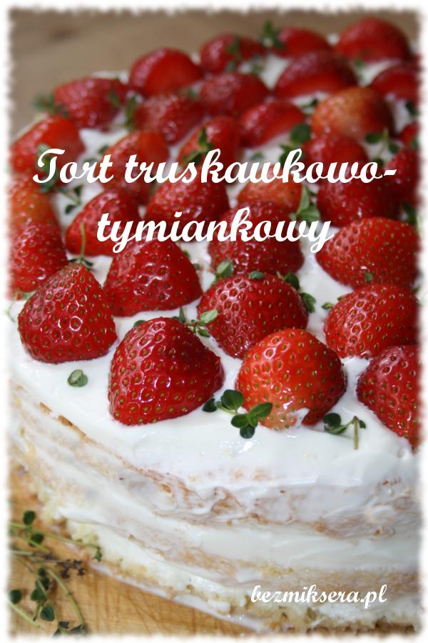 tort truskawkowy z tymiankiem