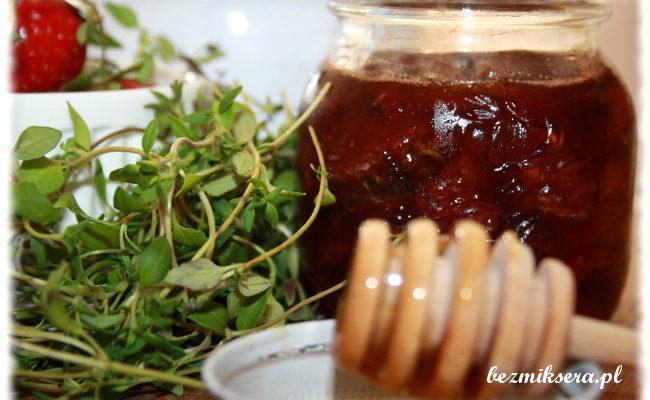 Przepis na dżem truskawkowy z miodem i tymiankiem