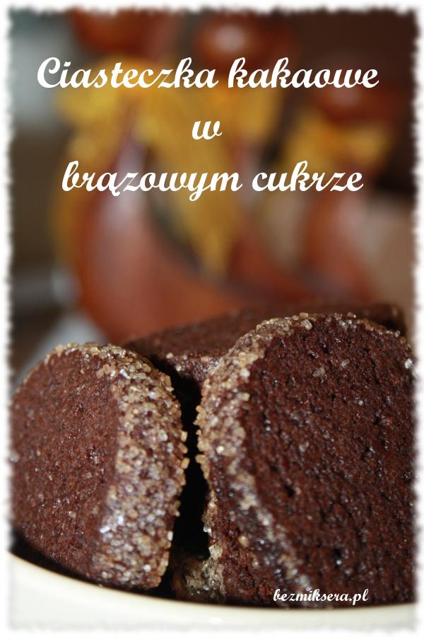 kakaowe ciastka w cukrze