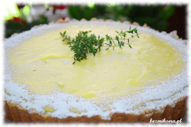 Przepis na tartę serową z cytryną i tymiankiem cytrynowym