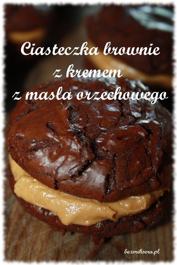 przepis na ciasteczka brownie z kremem fistaszkowym